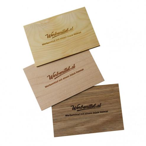 Faltbare Grußkarten aus Holz