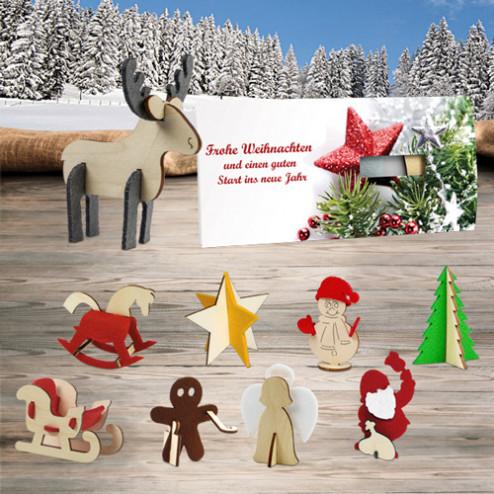 Weihnachts-Steckfiguren-Karte
