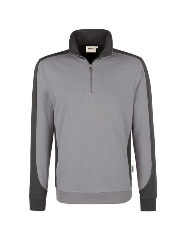 Hakro Zip Sweatshirt schwarz aus strapazierfähigem