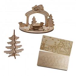 3D Holzpuzzle Weihnachtskarte