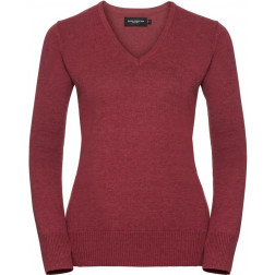 Damen V-Neck Strickpullover