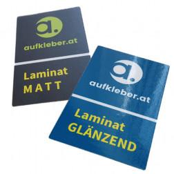 Premium Aufkleber mit Kratz- und Wetterschutzlaminat