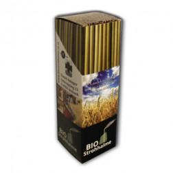 BIO Strohhalme - 80-Stück-Packung