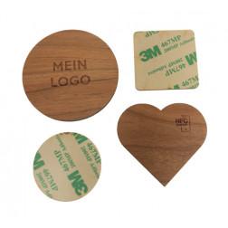 NFC Holzbutton, klebevariante