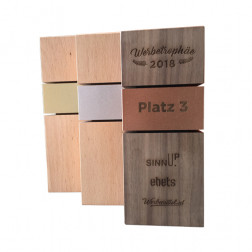 Holz-Trophäe - rechteckig