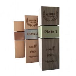 Holz-Trophäe - quadratisch