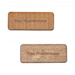 Namensschild Holz