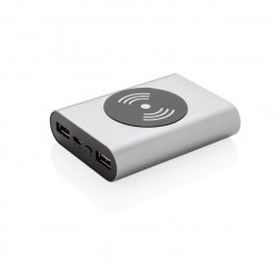 Aluminium 5.000 mAh Wireless 5W Pocket Powerbank