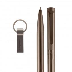 GISELE Set aus USB und Kugelschreiber gunmetal