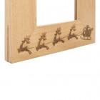Holzrahmen graviert mit Weihnachtsmotiv Detailansicht - werbemittel.at