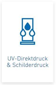 UV-Direktdruck auf Werbemittel und Awards, sowie Schilderdruck